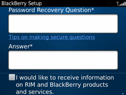 BlackBerry 9360 Curve - BlackBerry activation - BlackBerry ID activation - Step 10