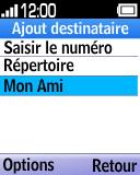 Alcatel OT-1035 - Contact, Appels, SMS/MMS - Envoyer un SMS - Étape 10