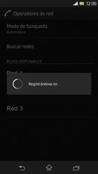 Sony Xperia Z - Red - Seleccionar una red - Paso 9