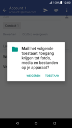 HTC One A9 - Android Nougat - E-mail - Bericht met attachment versturen - Stap 11