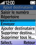 Alcatel OT-1035 - Contact, Appels, SMS/MMS - Envoyer un SMS - Étape 11