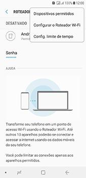 Samsung Galaxy J6 - Wi-Fi - Como usar seu aparelho como um roteador de rede wi-fi - Etapa 8