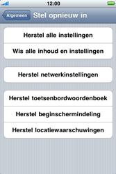 Apple iPhone 3G S - Probleem oplossen - Toestel resetten - Stap 5