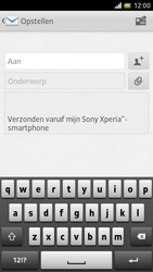 Sony LT28h Xperia ion - E-mail - E-mails verzenden - Stap 5