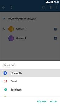 OnePlus 3 - Android Nougat - Contactgegevens overzetten - delen via Bluetooth - Stap 9