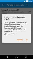 Sony Xperia M4 Aqua - Internet et connexion - Utiliser le mode modem par USB - Étape 8