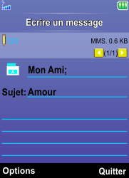 Bouygues Telecom Bc 101 - Contact, Appels, SMS/MMS - Envoyer un MMS - Étape 15
