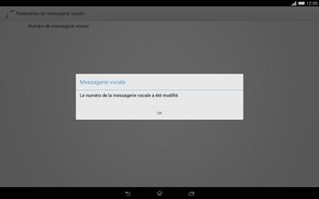 Sony Xperia Tablet Z2 (SGP521) - Messagerie vocale - configuration manuelle - Étape 10