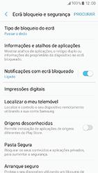 Samsung Galaxy A3 (2017) - Segurança - Como ativar o código de bloqueio do ecrã -  5