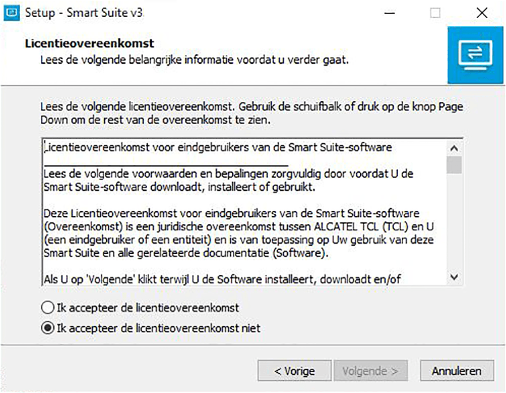 Alcatel Pixi 3 (8) - Software - Download en installeer PC synchronisatie software - Stap 4