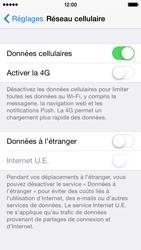 Apple iPhone 5s (iOS 8) - Aller plus loin - Désactiver les données à l'étranger - Étape 5