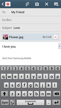 Samsung N9005 Galaxy Note III LTE - Email - Sending an email message - Step 18