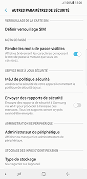 Samsung Galaxy Note 8 - Sécuriser votre mobile - Personnaliser le code PIN de votre carte SIM - Étape 6