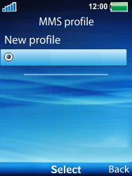 Sony Ericsson W100i Spiro - Mms - Manual configuration - Step 17