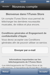 Apple iPhone 4 S - Applications - Créer un compte - Étape 6