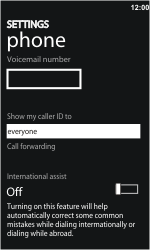 HTC 7 Trophy - Voicemail - Manual configuration - Step 6