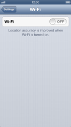 Apple iPhone 5 - Wi-Fi - Connect to Wi-Fi network - Step 4