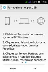 Alcatel Pixi 3 Dual Sim - Internet et connexion - Utiliser le mode modem par USB - Étape 9