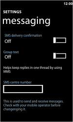 Nokia Lumia 710 - SMS - Manual configuration - Step 5