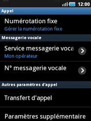 Samsung S5570 Galaxy Mini - Messagerie vocale - Configuration manuelle - Étape 5