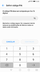 Huawei P8 Lite (2017) - Segurança - Como ativar o código de bloqueio do ecrã -  6