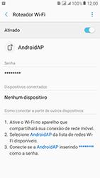 Samsung Galaxy J2 Prime - Wi-Fi - Como usar seu aparelho como um roteador de rede wi-fi - Etapa 12