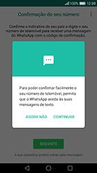 Huawei P9 - Aplicações - Como configurar o WhatsApp -  9