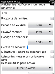 BlackBerry 9800 Torch - SMS - Configuration manuelle - Étape 5