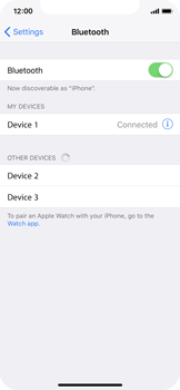 Apple iPhone X - Bluetooth - Pair with another device - Step 6