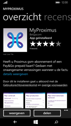 Microsoft Lumia 640 - Applicaties - MyProximus - Stap 9