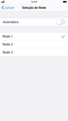 Apple iPhone 7 - iOS 13 - Rede móvel - Como selecionar o tipo de rede adequada - Etapa 7