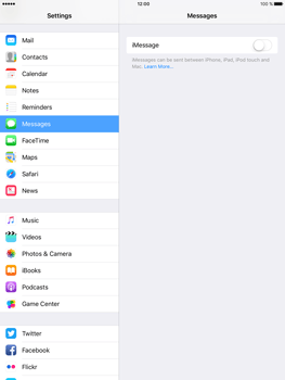 Apple iPad mini 4 iOS 10 - iOS features - Send iMessage - Step 4