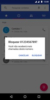 Motorola Moto G6 Plus - Chamadas - Como bloquear chamadas de um número específico - Etapa 7
