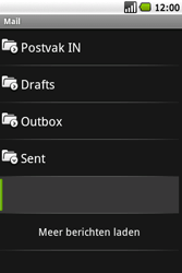Samsung Galaxy Spica (GT-i5700) - E-mail - Hoe te versturen - Stap 13