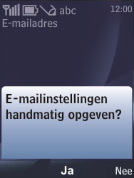 Nokia 6700 classic - E-mail - handmatig instellen - Stap 12