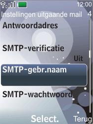 Nokia 7210 supernova - E-mail - Handmatig instellen - Stap 22