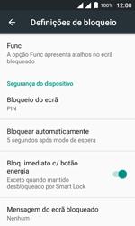 """Alcatel Pixi 4 (4"""") - Segurança - Como ativar o código de bloqueio do ecrã -  12"""