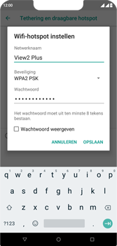 Wiko View 2 Plus - Internet - mijn data verbinding delen - Stap 8