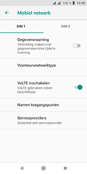 Sony xperia-l3-dual-sim-I4312 - Buitenland - Internet in het buitenland - Stap 7