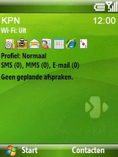 HTC S710 - E-mail - Handmatig instellen - Stap 1