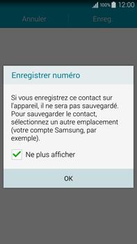 Samsung Galaxy Note 4 - Contact, Appels, SMS/MMS - Ajouter un contact - Étape 6