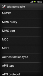 Sony ST26i Xperia J - Mms - Manual configuration - Step 10