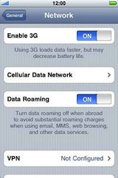 Apple iPhone 3G - Internet - Usage across the border - Step 5