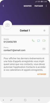 Samsung Galaxy S9 Plus - Contact, Appels, SMS/MMS - Ajouter un contact - Étape 12
