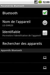 LG GW620 - Bluetooth - connexion Bluetooth - Étape 10