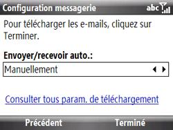 HTC S521 Snap - E-mail - Configuration manuelle - Étape 12