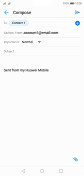 Huawei P20 - E-mail - Sending emails - Step 7