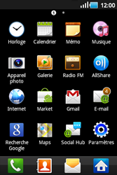 Samsung S5660 Galaxy Gio - Wifi - configuration manuelle - Étape 2