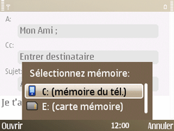 Nokia E72 - E-mail - envoyer un e-mail - Étape 9