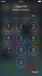 Apple iPhone iOS 7 - Funções básicas - Como reiniciar o aparelho - Etapa 7